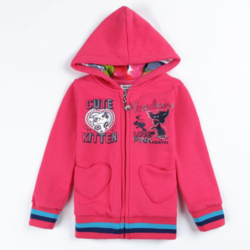 Hoodie with print and applique