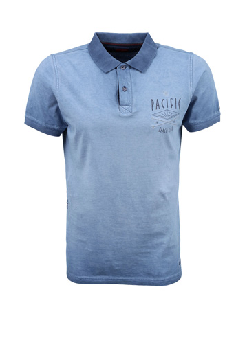 Polo T Shirt with garment wash
