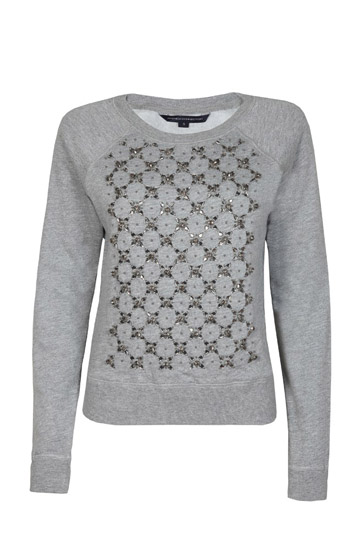 Sweat shirt with jacquard knitting
