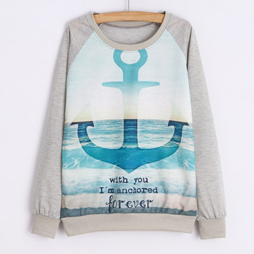 Sweat shirt with print