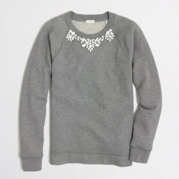 Sweat shirt with lace